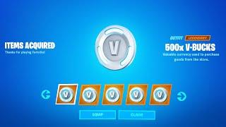 Secret Method to Receive VBUCKS Reward
