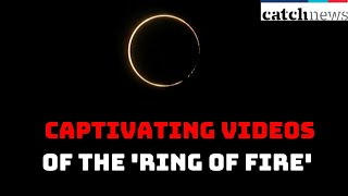Solar Eclipse 2020: Captivating Videos Of The 'Ring Of Fire' Across The Country | Catch News