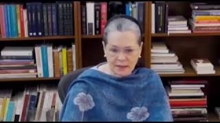 Opening remarks of Congress President Smt. Sonia Gandhi at CWC meeting