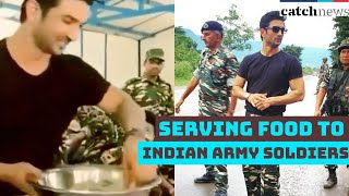 Sushant Singh Rajput Serving Food To Indian Army Soldiers | Viral Video Sushant Singh Rajput