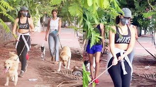 Gabriella Demetriades With Her Doggy Spotted At Carter Road