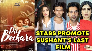Shraddha Kapoor, Kartik, Bhumi, Rajkummar Rao Promote Sushant Singh Rajput's Last Film Dil Bechara