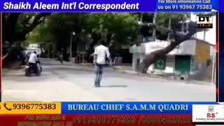 A youth who was drunk created a ruckus on the roads in Korutla of Jagtial in Telangana. He then went
