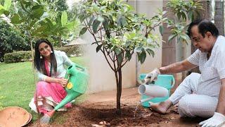 Brahmanandam And Udaya Bhanu Accepts Green Challenge | Top Telugu TV