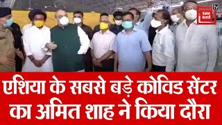 Delhi : राधा स्वामी में बने कोविड-19 केयर सेंटर का निरीक्षण करने पहुंचे अमित शाह-CM केजरीवाल