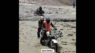 Leh Ladakh Bike Trip River Crossing 2019 |  JustWravel