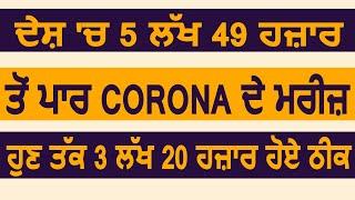 Corona Update: India में 5 लाख 49 हज़ार के पार पहुंचे Corona मरीज़, अब तक 3 लाख 20 हज़ार मरीज़ हुए ठीक