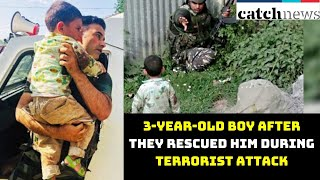 J-K Police Console 3-Year-Old Boy After They Rescued Him During Terrorist Attack | Catch News