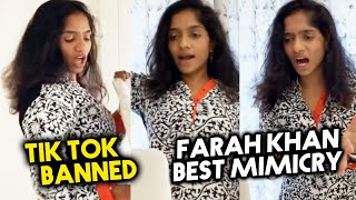 Jamie Lever Reaction On Tik Tok Banned In India | Farah Khan BEST Mimicry