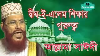 Saidi Bangla Waz Mahfil | দ্বীন-ই-এলেম শিক্ষার গুরুত্ত । New Bangla Waz Mahfil | Allama Saidi