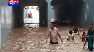 ગોંડલ-વરસાદ વરસતા ઉમવાળા બ્રીઝ પાણીમાં ગરકાવ