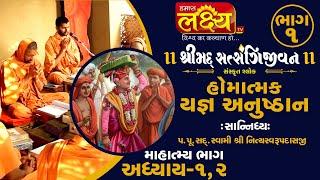 શ્રીમદ્દ સત્સંગિજીવન હોમાત્મક યજ્ઞ અનુષ્ઠાન ||Swami Nityaswarupdasji || Tirthdham Sardhar || Part-1