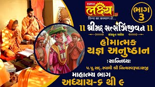 શ્રીમદ્દ સત્સંગિજીવન હોમાત્મક યજ્ઞ અનુષ્ઠાન ||Swami Nityaswarupdasji || Tirthdham Sardhar || Part-3