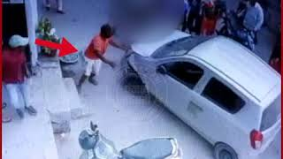 VIDEO : नशे में चूर सब-इंस्पेक्टर ने पहले महिला को मारी टक्कर, फिर रौंदते हुए लगा भागने