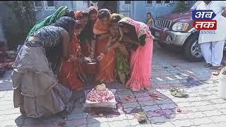 ખીરસરા : કુંવારીકન્યાઓ દ્વારા જયાપાર્વતી વ્રતનું પુજન કરાયું | ABTAK MEDIA