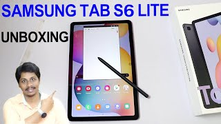 Samsung Tab s6 lite unboxing telugu