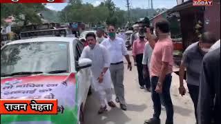 6 july 3 पैट्रोल और डीजल के बढते दामों के विरोध में सुजानपुर में कांग्रेस ने जोरदार प्रदर्शन किया।