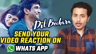 Dil Bechare Trailer Reaction | Send Your Reaction Video On Whats App | Sushant Singh Rajput, Sanjana