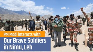 Prime Minister Narendra Modi interacts with Our Brave Soldiers in Nimu, Leh | 3rd July 2020 | PMO