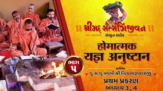 શ્રીસત્સંગિજીવન હોમાત્મક યજ્ઞ અનુષ્ઠાન I Part-5 I Swami Nityaswarupdasji I Tirthdham Sardhar