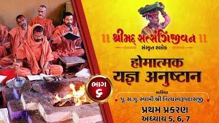 શ્રીસત્સંગિજીવન હોમાત્મક યજ્ઞ અનુષ્ઠાન I Part-6 I Swami Nityaswarupdasji I Tirthdham Sardhar