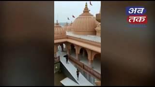 સિદસર મંદિરે ઉમિયા માતાજીના ચરણ સ્પર્શ કરતી વેણુ નદી | ABTAK MEDIA