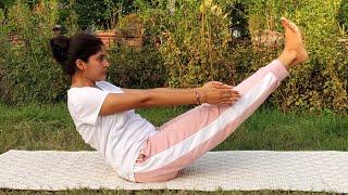 Naukasana (Boat Yoga Pose)   नौकासन योग विधि, लाभ और सावधानियां   Yog Rahasya   Satya Bhanja