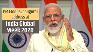PM Modi's inaugural address at India Global Week 2020   PMO