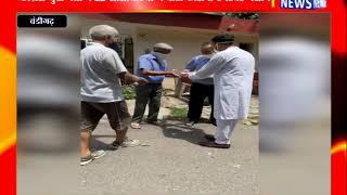 चंडीगढ़ : कांग्रेस युवा नेता ने 22 सोसायटियों में बांटी कोरोना टैंपरेचर मशीन
