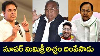 Politicians Voice Imitation | All Rounder Ravi Mimicry | KCR | VH Hanumantha Rao | Top Telugu TV