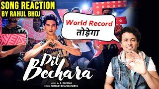 Dil Bechara Title Track REACTION By Rahul Bhoj | Sushant Singh Rajput | A.R Rahman