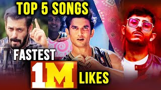 Top 5 Fastest Indian Songs To Reach 1 Million Likes On Youtube