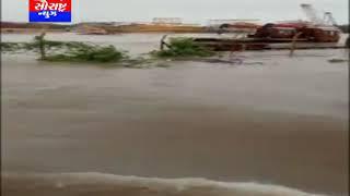દ્વારકા રોડ પરના પુલમાં ST બસ દ્વારા નદીમાં ચલાવતો વિડીયો વાયરલ
