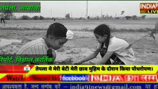 INDIA91 LIVE  मेरी बेटी मेरी छाव के तहत किया पौधरोपण