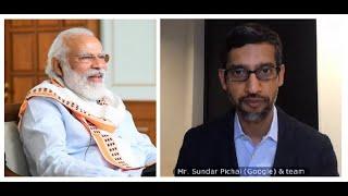 PM Modi interacts with Google CEO Sundar Pichai on tech, new work culture during COVID-19