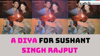 Ankita Lokhande Lights A Diya For Sushant Singh Rajput | Catch News