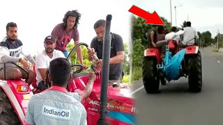D Boss Darshan tractor ride in public | Darshan video goes viral | Challenging Star Darshan