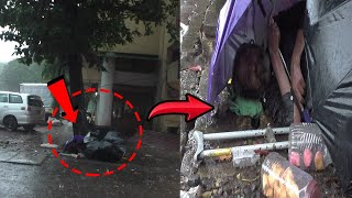 WATCH | This homeless man sleeping in the rain is the saddest thing you'll see today