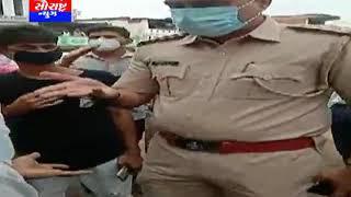 અમદાવાદ-સરદાર નગરમાં પોલીસ દ્વારા છૂટો ડંડો મારતા મામલો બિચક્યો