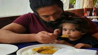 Father and Daughter feeding each other cute video | Ayra Yash New Video | Radhika Pandit | Yash