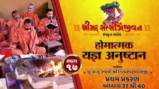 શ્રીસત્સંગિજીવન હોમાત્મક યજ્ઞ અનુષ્ઠાન I Part-17 I Swami Nityaswarupdasji I Tirthdham Sardhar