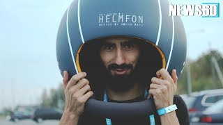 slip your head into a noise isolating helmet