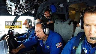NOAA plane flies through powerful Hurricane Irma