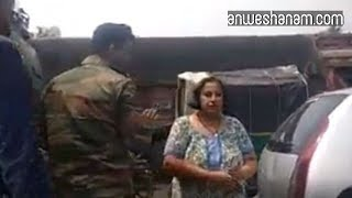 Woman who slapped Armymen held: Police