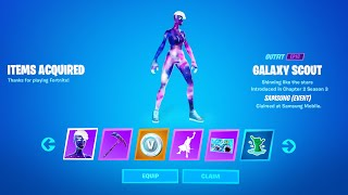 Claim Free Galaxy Rewards on Mobile Now (Galaxy Scout Female Skin)