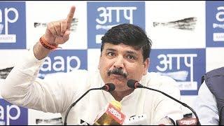 AAP RS MP Sanjay Singh briefs & MLA Raghav Chadha media on an Important Issue | LIVE