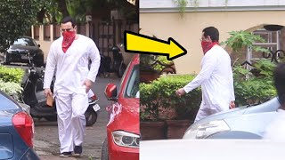 Saif Ali Khan Spotted At Bandra Outside His House - Watch Video