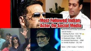 Top 5 Most Followed Bollywood Actors In 2020 - Akshay Kumar, Salman Khan, Big B, SRK, Hrithik Roshan