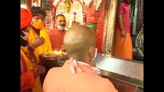 Ahead of foundation laying ceremony, Yogi Adityanath offers prayers at Ram Janmabhoomi