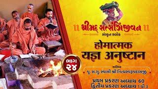 શ્રીસત્સંગિજીવન હોમાત્મક યજ્ઞ અનુષ્ઠાન I Part-24 I Swami Nityaswarupdasji I Tirthdham Sardhar